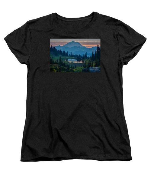 Mount Rainier Layers Women's T-Shirt (Standard Cut) by Mike Reid