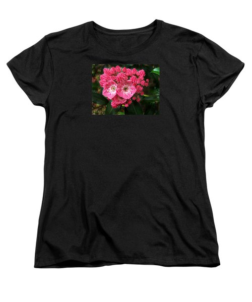 Women's T-Shirt (Standard Cut) featuring the photograph Mountain Laurel ' Olympic Fire ' by William Tanneberger
