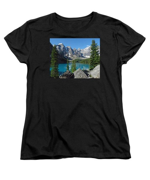 Women's T-Shirt (Standard Cut) featuring the photograph Mountain Magic by Alan Socolik