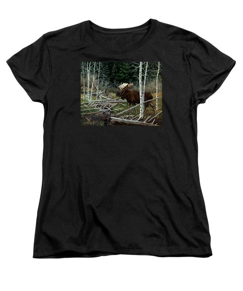 Mountain Monarch Women's T-Shirt (Standard Cut) by Craig T Burgwardt