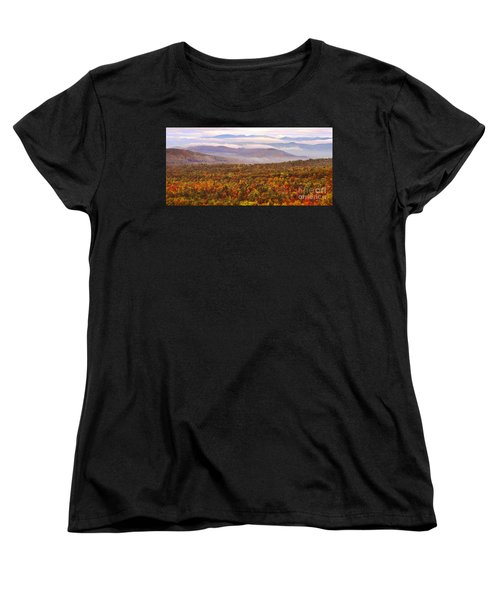 Mountain Mornin' In Autumn Women's T-Shirt (Standard Cut) by Lydia Holly