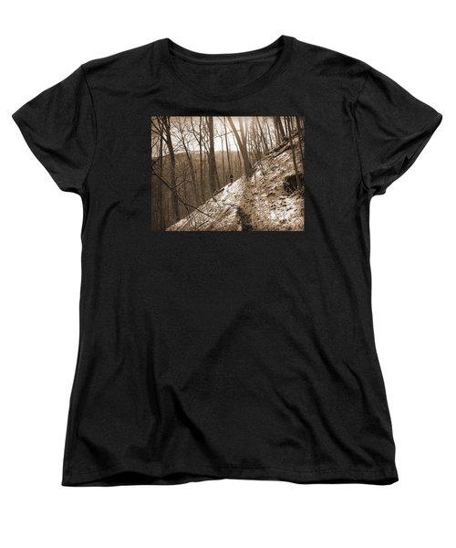 Mountain Side Women's T-Shirt (Standard Cut) by Melinda Fawver
