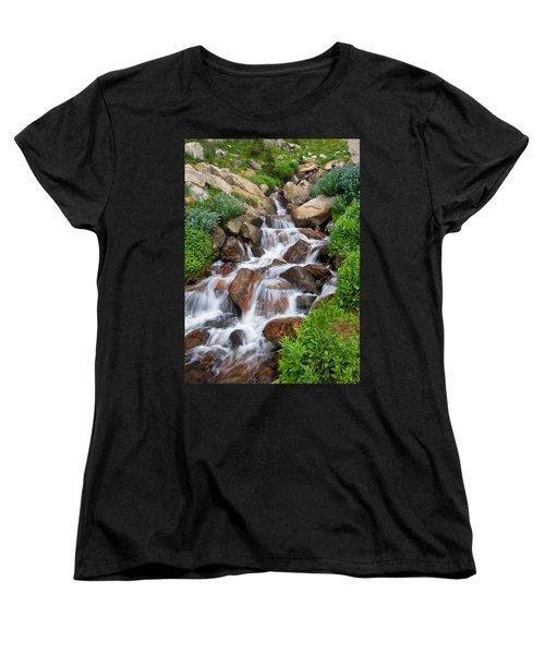 Women's T-Shirt (Standard Cut) featuring the photograph Mountain Stream by Ronda Kimbrow