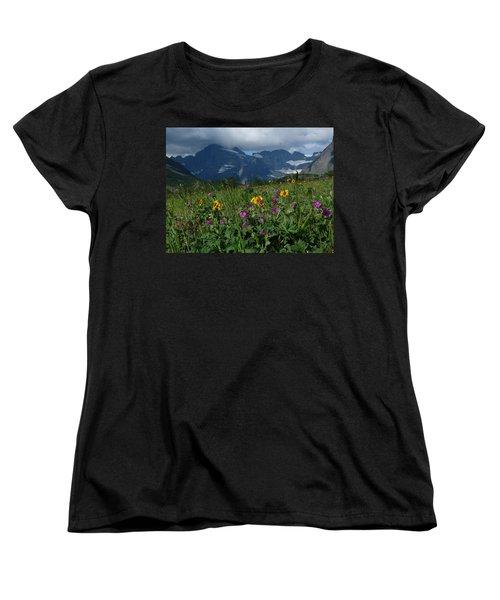 Mountain Wildflowers Women's T-Shirt (Standard Cut) by Alan Socolik