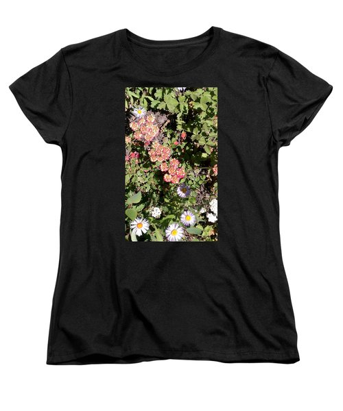 Women's T-Shirt (Standard Cut) featuring the photograph Mountain Wildflowers by Fortunate Findings Shirley Dickerson
