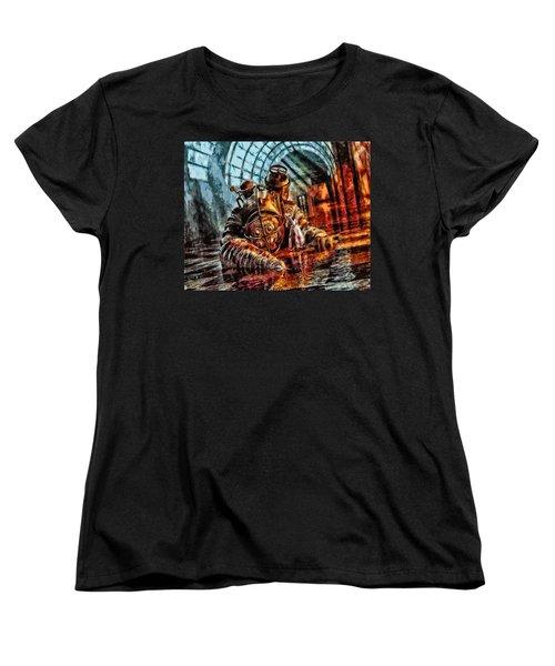 Mr. Bubbles Please Get Up Women's T-Shirt (Standard Cut) by Joe Misrasi