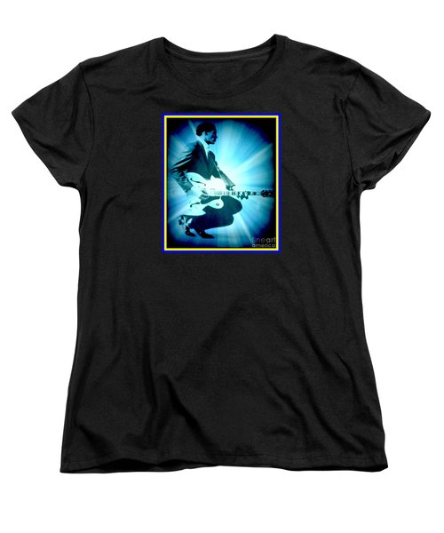 Mr Chuck Berry Blueberry Hill Style Edited Women's T-Shirt (Standard Cut) by Kelly Awad