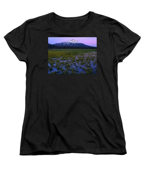 Women's T-Shirt (Standard Cut) featuring the photograph Mt. Bachelor Twilight by Kevin Desrosiers