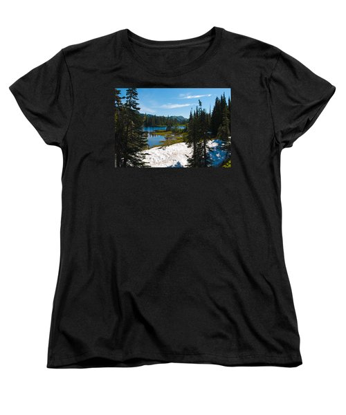 Women's T-Shirt (Standard Cut) featuring the photograph Mt. Rainier Wilderness by Tikvah's Hope
