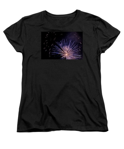Women's T-Shirt (Standard Cut) featuring the photograph Multicolor Explosion by Suzanne Luft