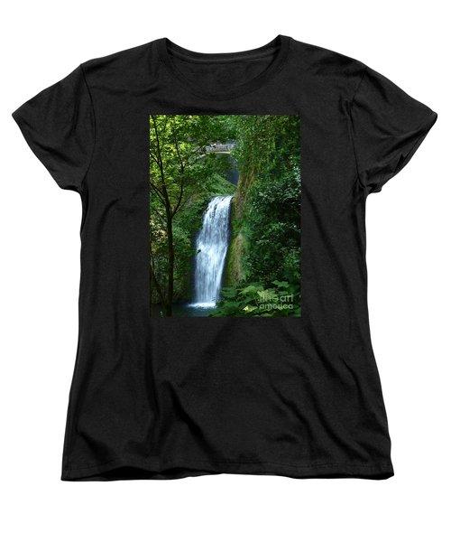 Multnomah Falls Bridge 2 Women's T-Shirt (Standard Cut) by Susan Garren