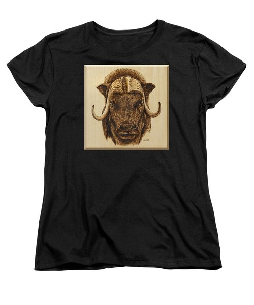 Muskox Women's T-Shirt (Standard Cut) by Ron Haist