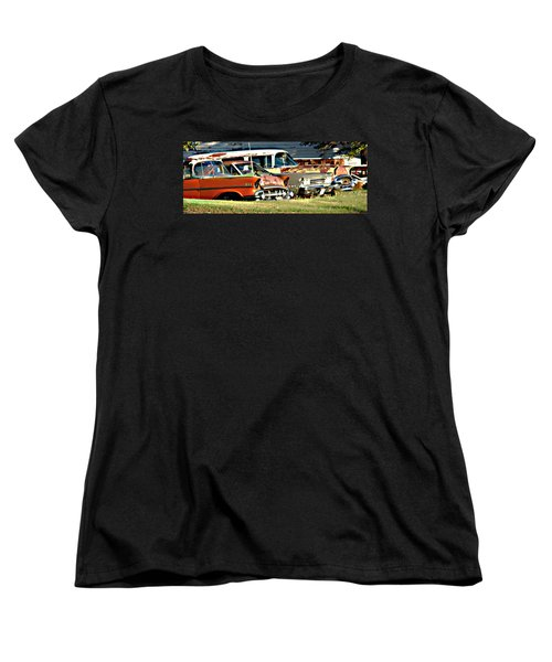 Women's T-Shirt (Standard Cut) featuring the digital art My Cars by Cathy Anderson