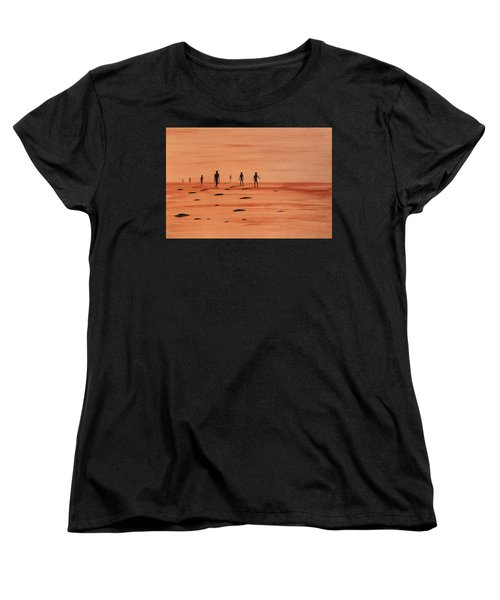 Women's T-Shirt (Standard Cut) featuring the painting My Dreamtime 2 by Tim Mullaney