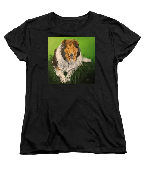 Women's T-Shirt (Standard Cut) featuring the painting My Guardian  by Wendy Shoults