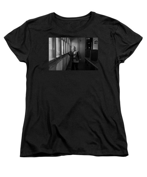 Women's T-Shirt (Standard Cut) featuring the photograph My Shadow by Jeremy Rhoades