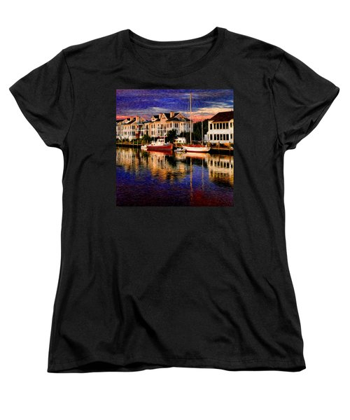 Mystic Ct Women's T-Shirt (Standard Cut) by Sabine Jacobs