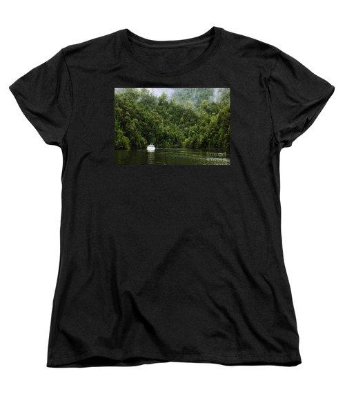 Mystic River Women's T-Shirt (Standard Cut) by Jola Martysz