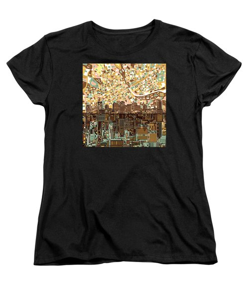 Nashville Skyline Abstract 4 Women's T-Shirt (Standard Cut) by Bekim Art