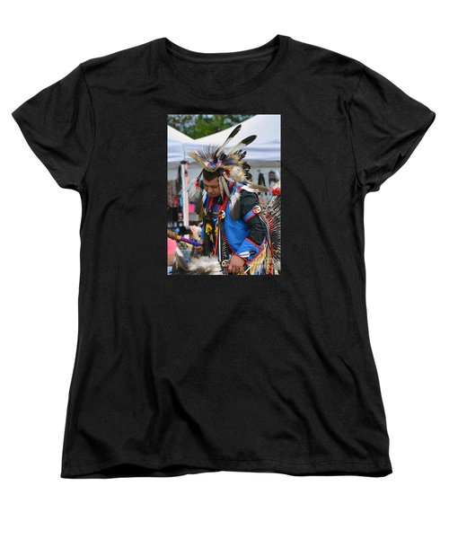Women's T-Shirt (Standard Cut) featuring the photograph Native American Dancer by Kathy Baccari
