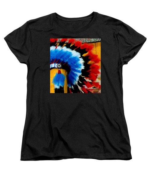 Women's T-Shirt (Standard Cut) featuring the photograph Native American Headdress by Janette Boyd