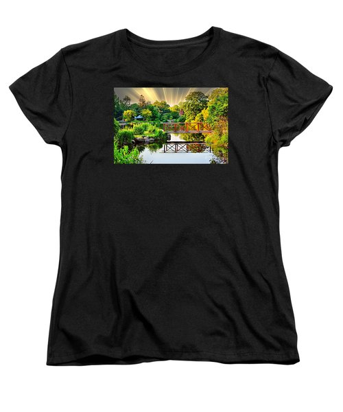 Women's T-Shirt (Standard Cut) featuring the photograph Nature's Reflections by Judy Palkimas