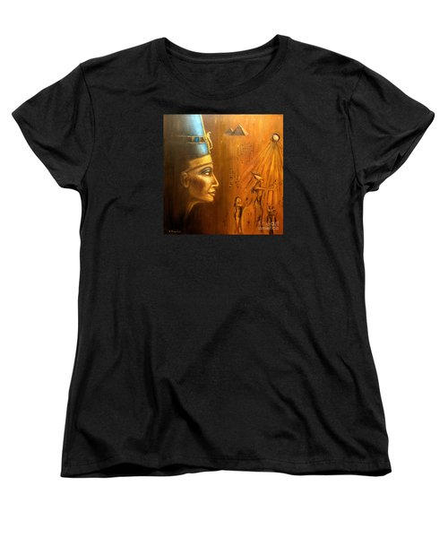 Nefertiti Women's T-Shirt (Standard Cut) by Arturas Slapsys