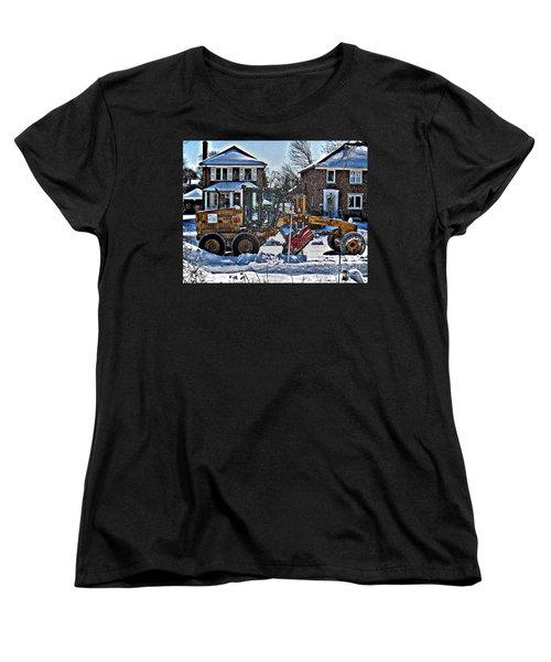 Neighbourhood Snowplough Women's T-Shirt (Standard Cut) by Nina Silver