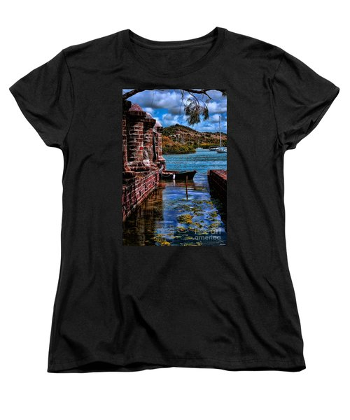 Nelson's Dockyard Antigua Women's T-Shirt (Standard Cut) by Tom Prendergast