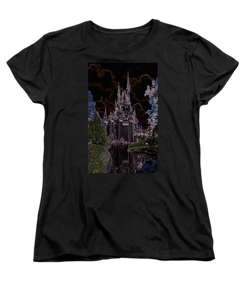 Neon Castle Women's T-Shirt (Standard Cut) by Eric Liller