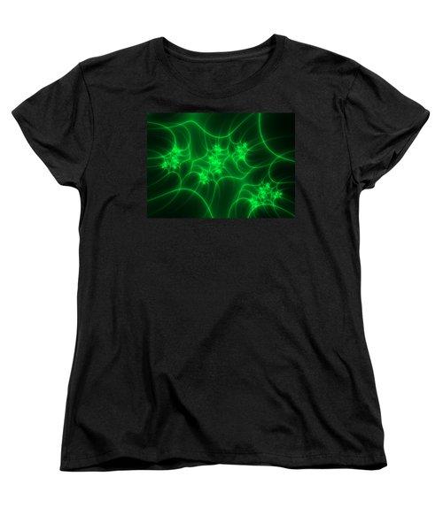 Women's T-Shirt (Standard Cut) featuring the digital art Neon Fantasy by Gabiw Art