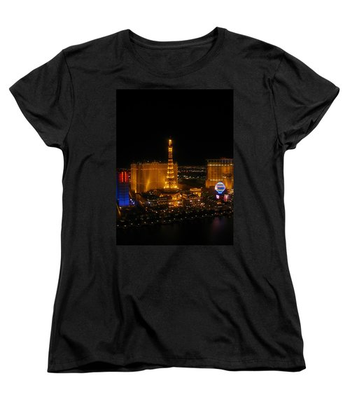 Women's T-Shirt (Standard Cut) featuring the photograph Neon Illusion by Angela J Wright