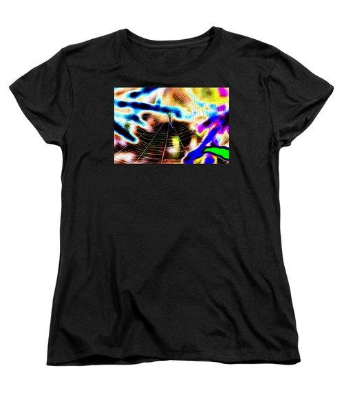 Neon Spider Women's T-Shirt (Standard Cut) by Kim Pate