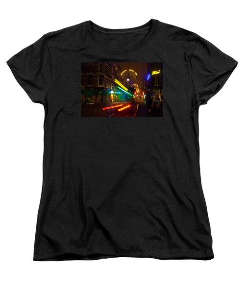 Neon Tram Leidestraat Women's T-Shirt (Standard Cut) by Jonah  Anderson