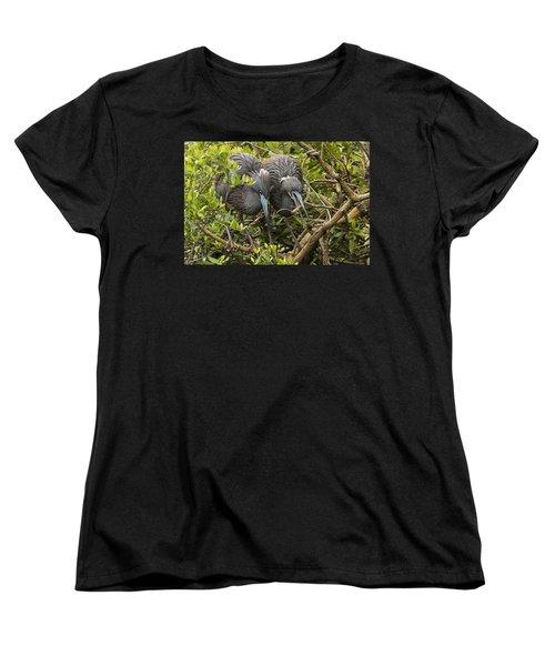 Women's T-Shirt (Standard Cut) featuring the photograph Nest Building by Priscilla Burgers