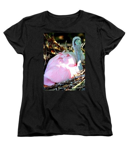 Nesting Spoonbill Women's T-Shirt (Standard Cut) by Carol Groenen