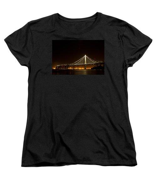 New Bay Bridge Women's T-Shirt (Standard Cut) by Bill Gallagher