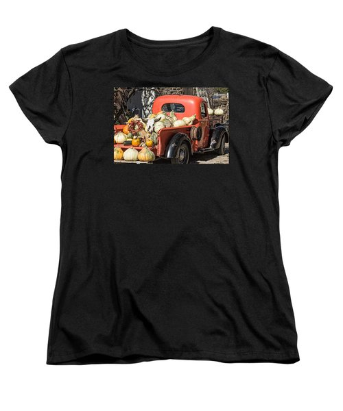 New Mexico Fall Harvest Truck Women's T-Shirt (Standard Cut) by Steven Bateson