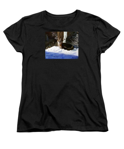 Women's T-Shirt (Standard Cut) featuring the painting New Mexico Swift Fox by Sheri Keith