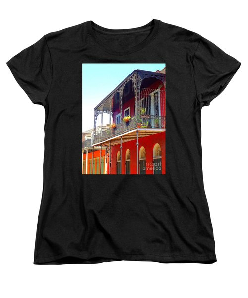 New Orleans French Quarter Architecture 2 Women's T-Shirt (Standard Cut) by Saundra Myles