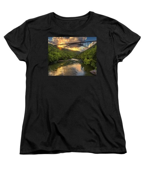New River Evening Glow Women's T-Shirt (Standard Cut) by Mary Almond