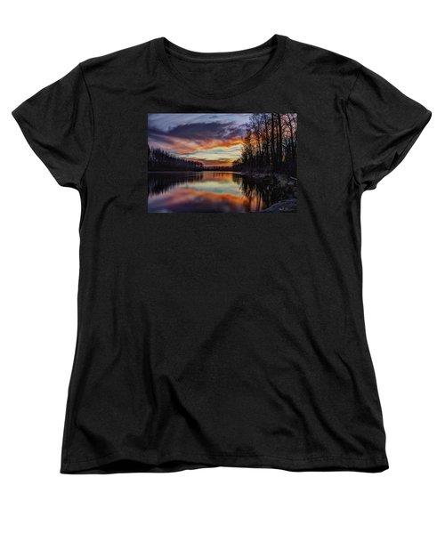 New Years Eve Sunset Women's T-Shirt (Standard Cut) by Charlie Duncan