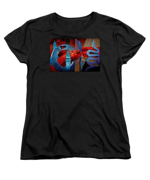 Women's T-Shirt (Standard Cut) featuring the photograph New York City Park Avenue Sculptures Reimagined by Chris Lord