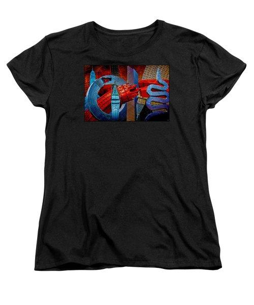 New York City Park Avenue Sculptures Reimagined Women's T-Shirt (Standard Cut) by Chris Lord