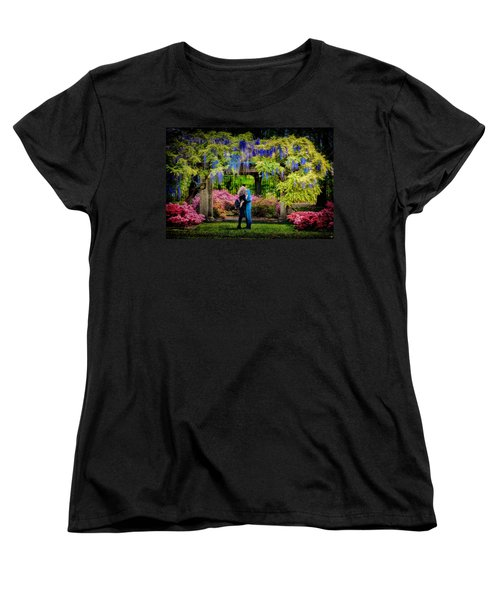 Women's T-Shirt (Standard Cut) featuring the photograph New York Lovers In Springtime by Chris Lord