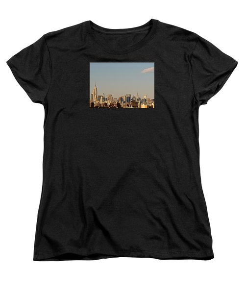 Women's T-Shirt (Standard Cut) featuring the photograph New York City Skyline by Kerri Farley