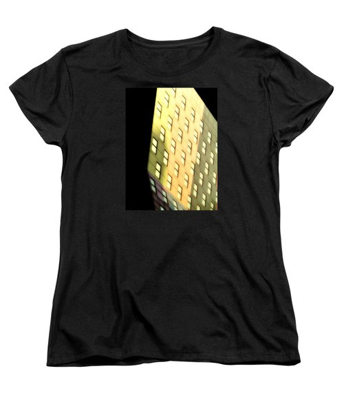 Women's T-Shirt (Standard Cut) featuring the photograph New York Sunset by Newel Hunter