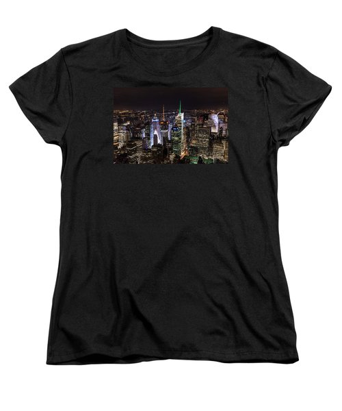 New York Times Square Women's T-Shirt (Standard Cut) by Matt Malloy