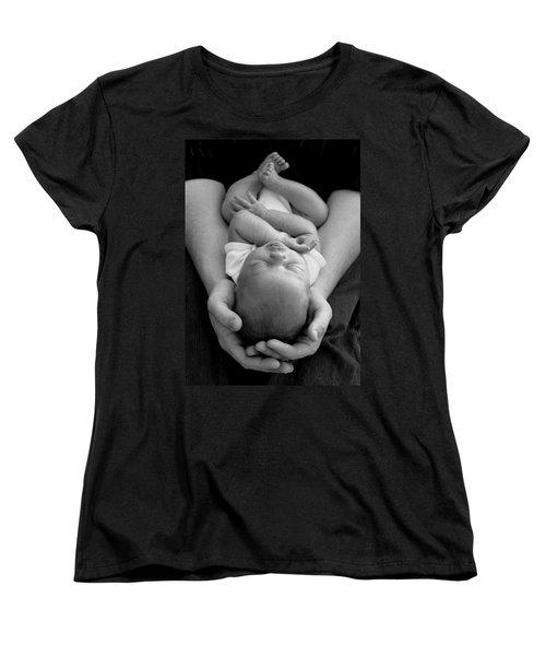 Newborn In Arms Women's T-Shirt (Standard Cut) by Lisa Phillips