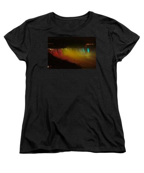 Niagara Falls A Glow Women's T-Shirt (Standard Cut) by Dave Files